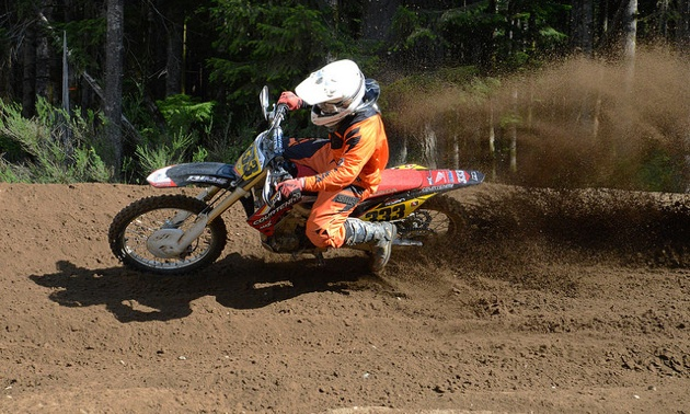 Jesse Ryan riding hard.