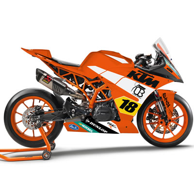 The new KTM RC 390 R.