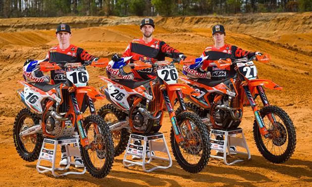 Group photo of 3 riders.