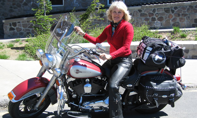 Linda Crill Corporate Trainer Meets Harley Davidson