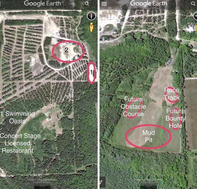 A Google Map view of the park.