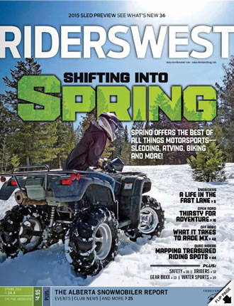 RidersWest Magazine cover