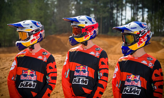 KTM and Red Bull racing team.