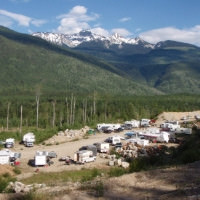 Campers and trailers at Revelstoke GPS ATV Ride