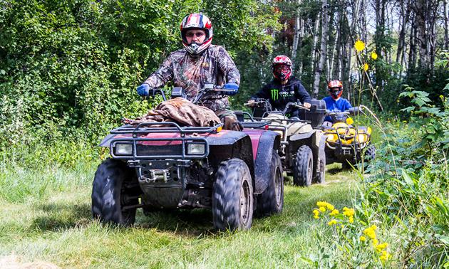 ATVing in Neudorf, Saskatchewan.