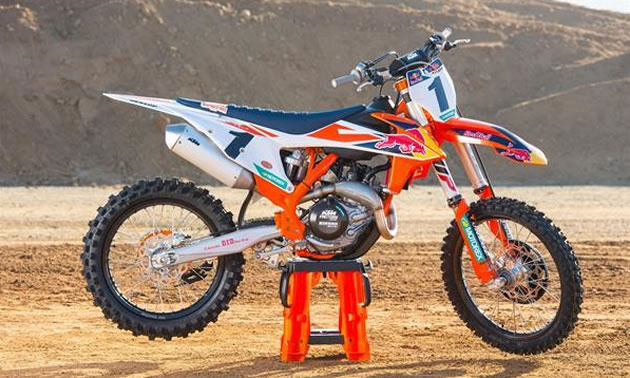 The KTM 450 SX-F Factory Edition