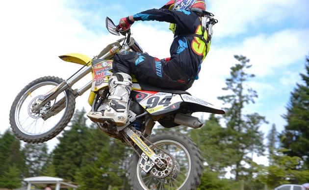 Tanner Meyland on his 112cc Supermini.