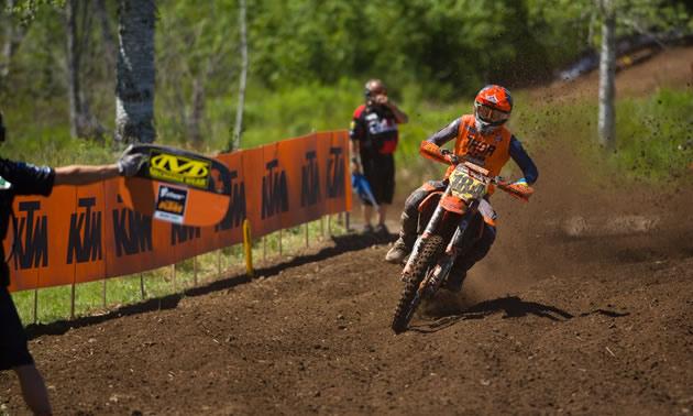 MX2 Pro-Am rider Tanner Ward.