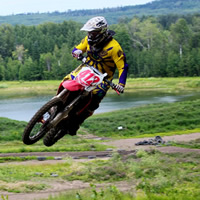 Michael King practices at the White Ridge MX Park.