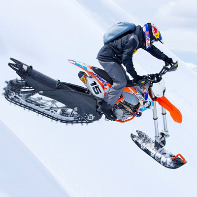 Picture of Yeti SnowMX snow bike.