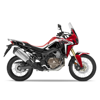 The new Africa Twin adventure motorbike from Honda.