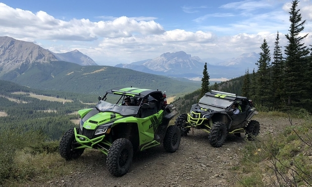 ATVs on the mountain