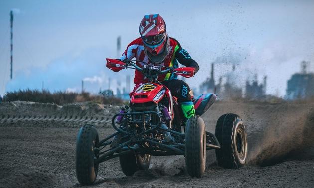 motocross bike and rider