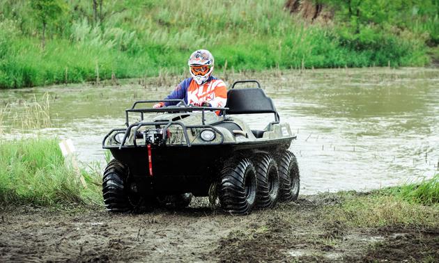 New 2018 ARGO amphibious vehicle.