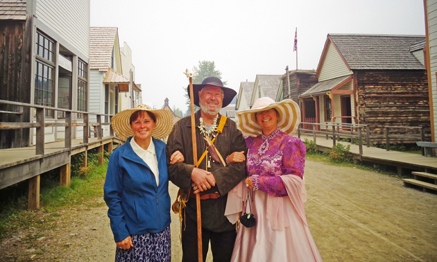 Several members of the Well Wheels are dressed in period costumes and they toured the town, much to the delight of both the locals and tourists.