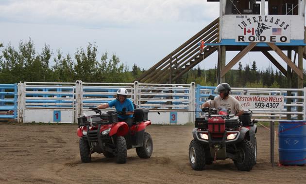 Panty Hose Shuffle at the ATV Rodeo during the 2013 Jamboree.
