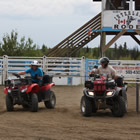 Panty Hose Shuffle at the ATV Rodeo during the 2013 Jamboree.