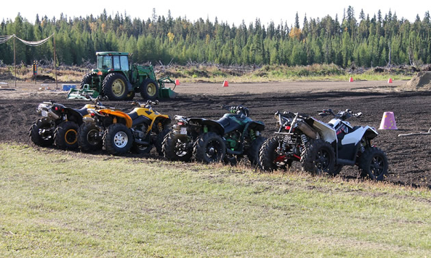 ATVs at the ready for another event at the rodeo.