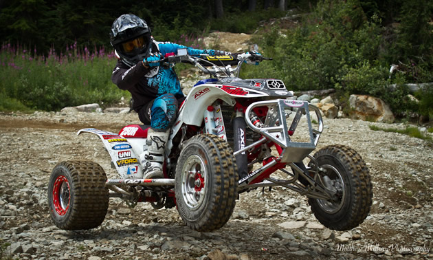 Christian Gagnon ripping on his race quad.