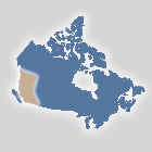 Map of the British Columbia