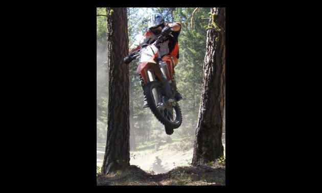 With a four-foot vertical take-off between two fir trees, there wasn't much room for error.