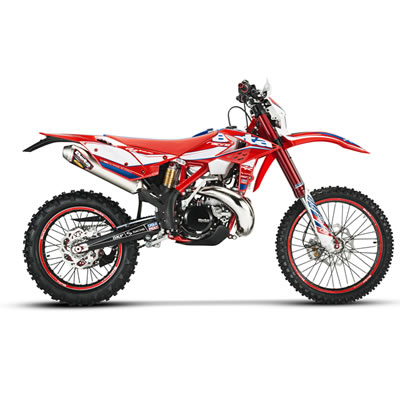 Red Beta racing dirt bike for 2017.
