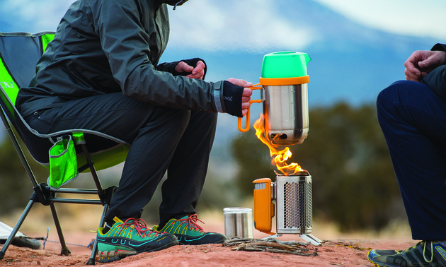 Biolite's kettle maximizes heat transfer and boils water quickly. Photo courtesy Biolite