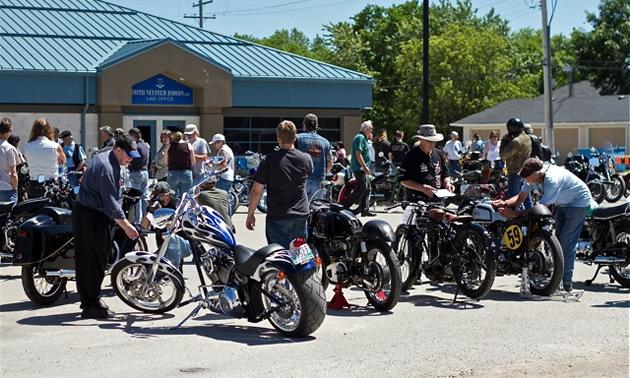 Vintage motorcycles in Manitoba.
