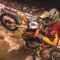 Bobby Prochanu in an endurocross event on his KTM.