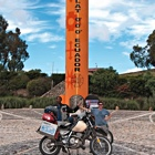 Motorcyclists at the equator