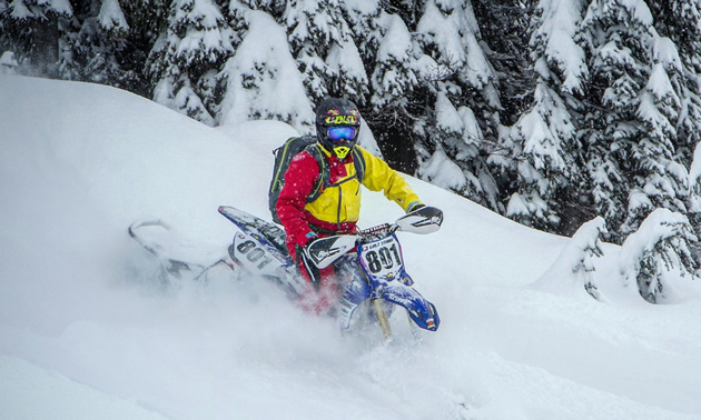 Camso DTS 129 in the deep powder.