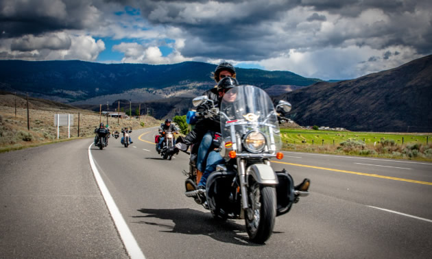 Riders participate in the Vintage Motorcycle Canyon Run