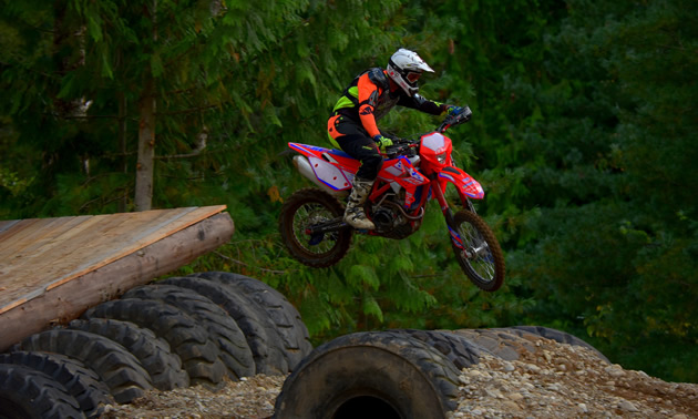 Carl Kuster at his endurocross track.