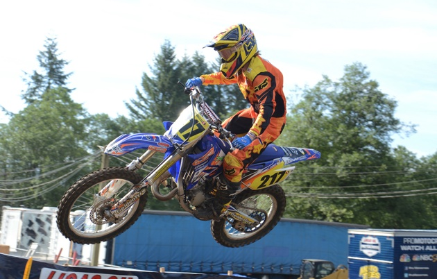Casey Keast in a race at Washougal.
