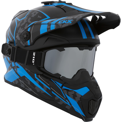 The CKX Titan - Summer Edition helmet in black and blue.