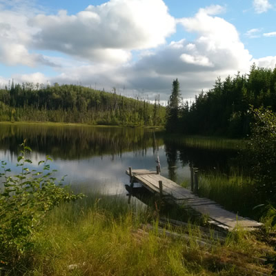 This small lake is Trevor's quiet summer getaway.