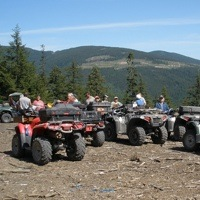 The Creston Valley Quad Squad enjoying a wonderful group ride up to boundary lake.