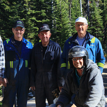 Pictured from left to right are Grant Jordan, Quad Squad Director Joe Lumley, Peter Tichler, Neil Talbot, Bob Pollock, Duane Akey, and Quad Squad President Gary Clark.