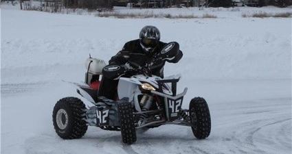 Photo of an ATV on ice