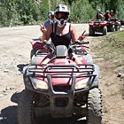Woman on an ATV