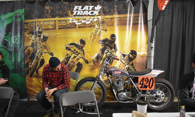 The Flat Track Canada booth.