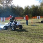 ATVs' racing off a start line