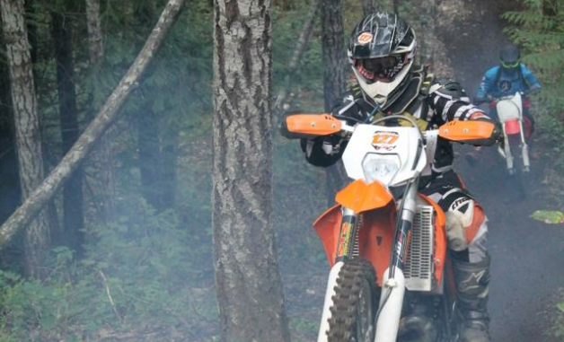 Having a blast at the Roots of Doom hare scramble.