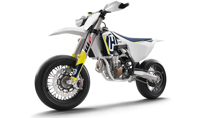 New 2018 Husqvarna FS 450 Supermoto bike.
