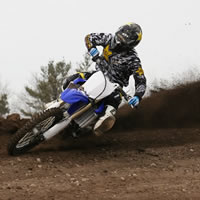 Iain Hayden ripping around the motocross track at Motopark.