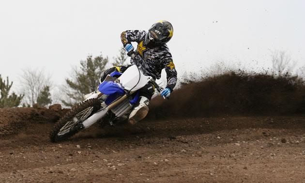 Iain Hayden ripping around the motocross track at Motopark.