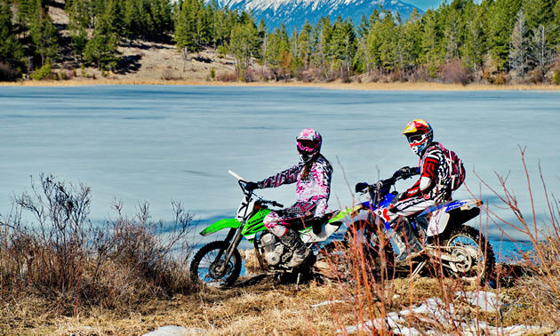 Claire Hatheway and her brother Kirk Hatheway took advantage of the stellar B.C. riding terrain.