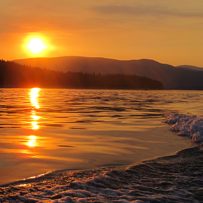 A beautiful sunset taken from a boat on Lake Koocanusa.