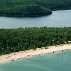 Overhead view of beach