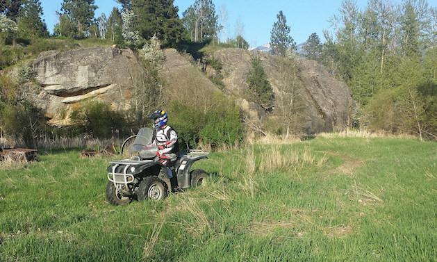 Matthew Lohrer riding in Creston, BC.